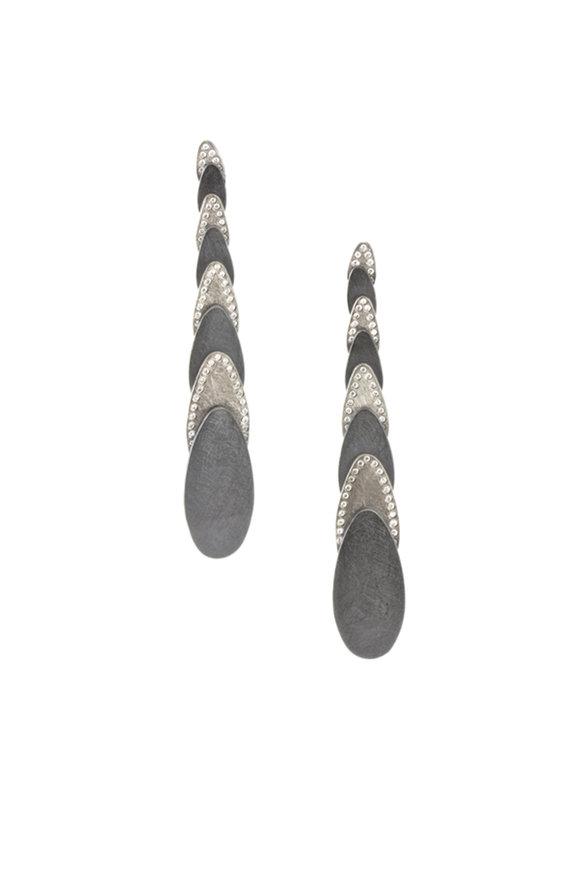 Todd Reed Palladium & Silver Diamond Dangle Earrings