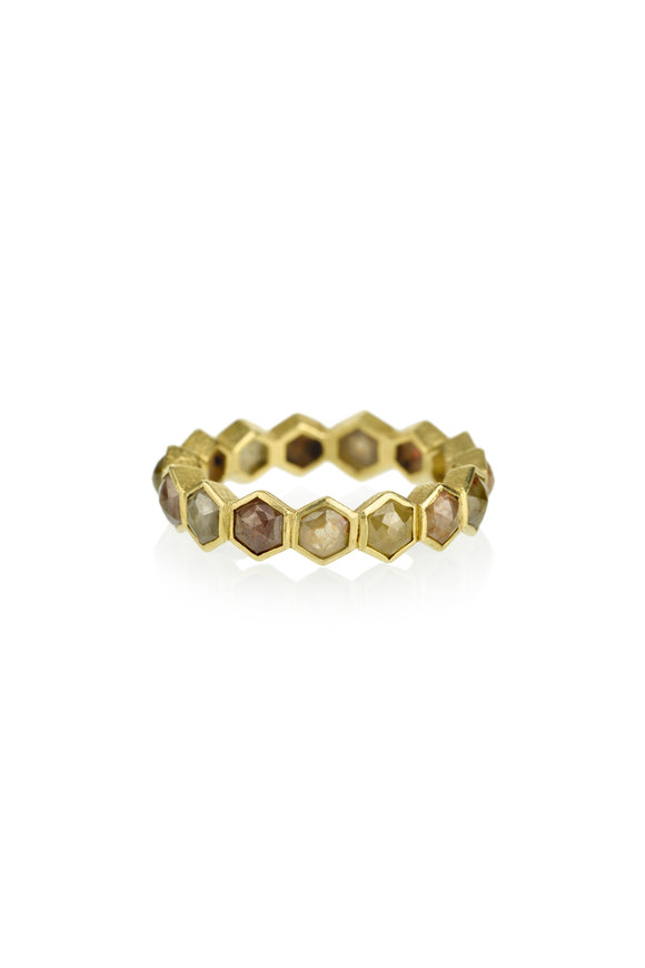 Todd Reed Yellow Gold Fancy Diamond Band