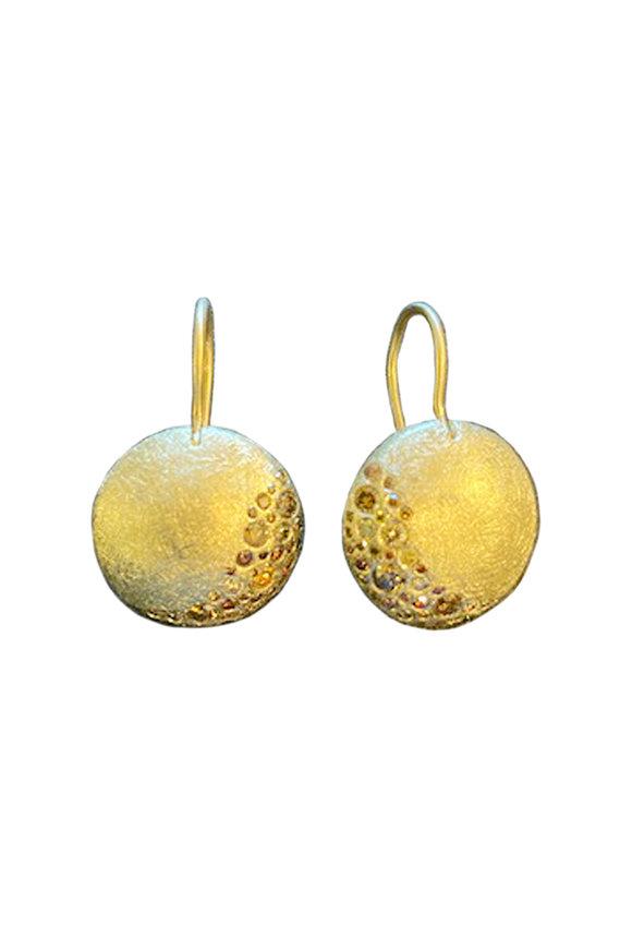 Todd Reed Yellow Gold Autumn Diamond Earrings