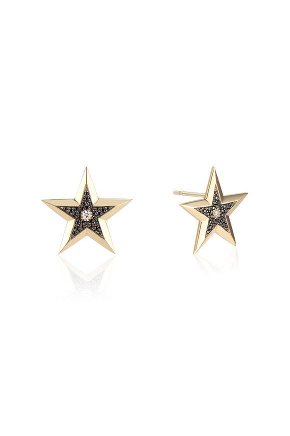 Dru Yellow Gold Diamond Star Studs