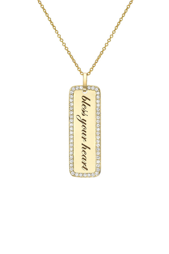 Dru Yellow Gold Bless Your Heart Memento Pendant