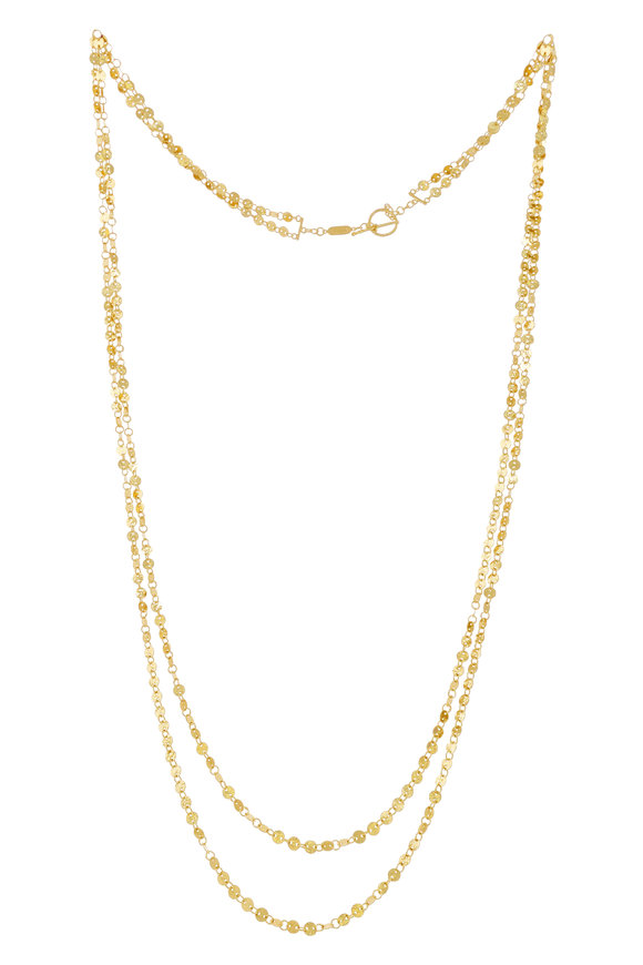 Dima Jewellery Yellow Gold Iconic Hand Hammered Coin Necklace