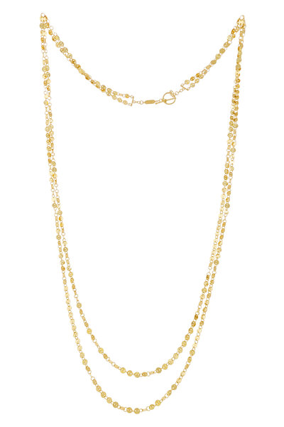 Dima Jewellery - Yellow Gold Iconic Hand Hammered Coin Necklace