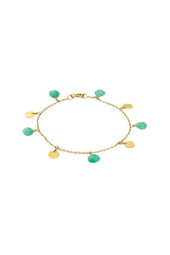 Dima Jewellery Gold Coin & Chryso Drop Bracelet