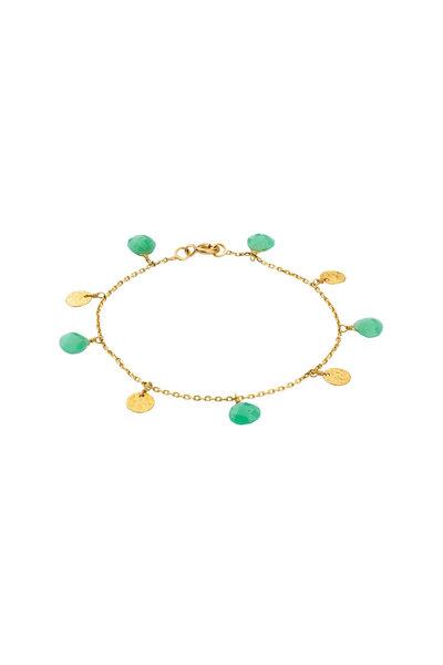 Dima Jewellery - Gold Coin & Chryso Drop Bracelet