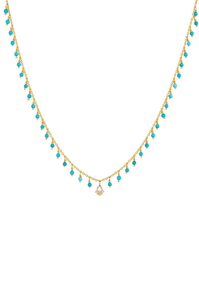 Dima Jewellery - Turquoise Drops Necklace