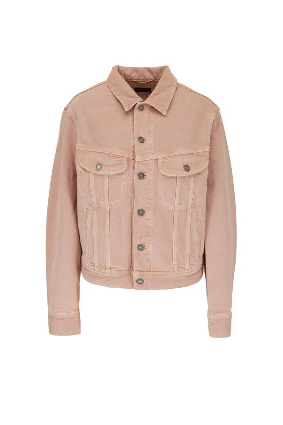 Saint Laurent Light Pink Curved Denim Jacket