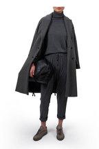 Brunello Cucinelli - Black Leather Drawstring Hobo Bag