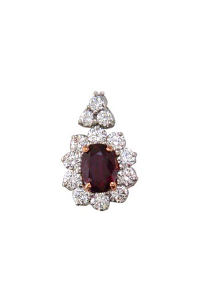 Oscar Heyman - Ruby Diamond Pendant