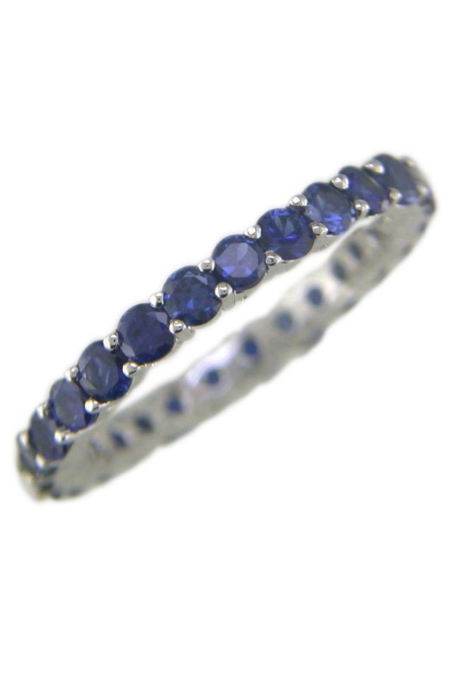Sapphire Platinum Band Ring