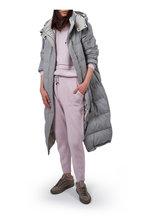 Brunello Cucinelli - Light Gray Wool Lurex Down Puffer Coat