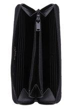 Saint Laurent - Monogram Black Grained Patent Leather Zip Wallet