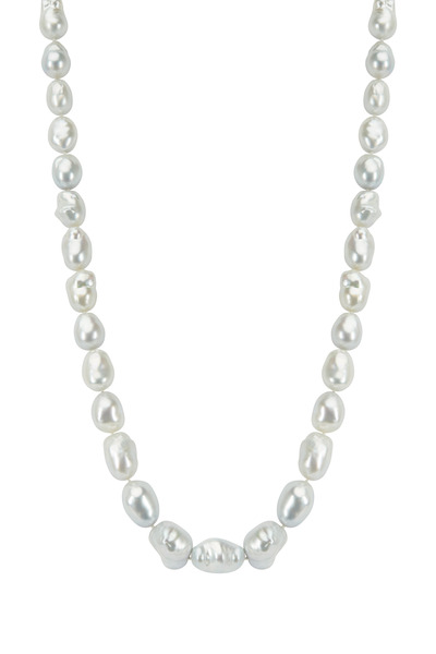Assael - White Gold South Sea Pearl Rope Diamond Necklace