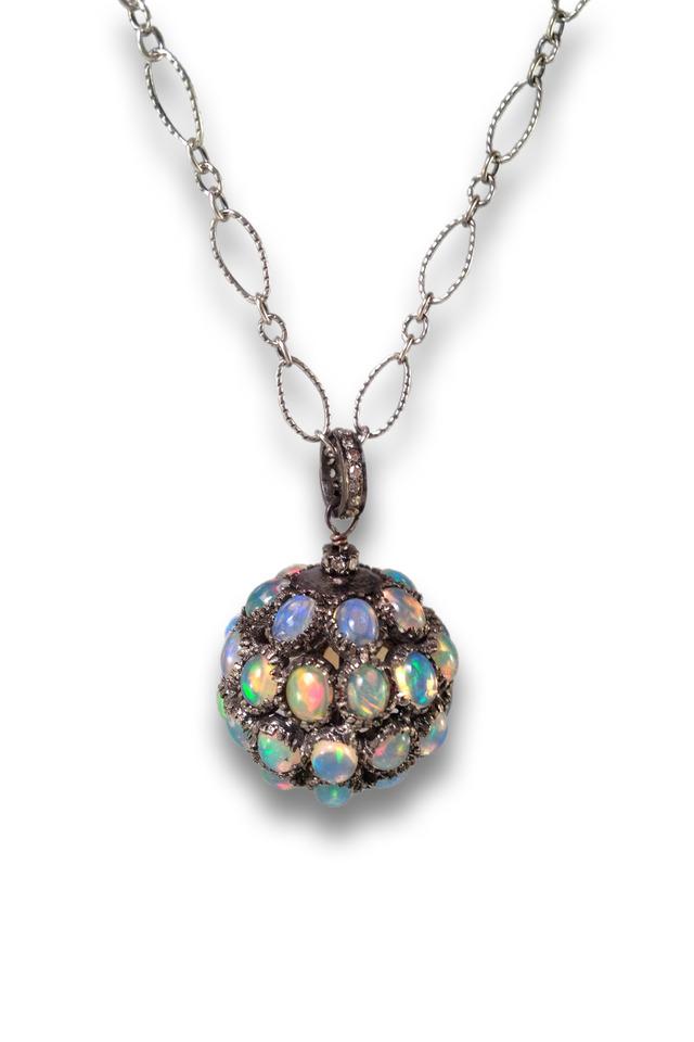 Diamond Opal Spherical Pendant