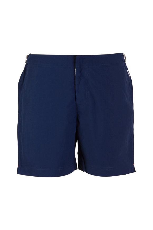 Orlebar Brown Bulldog Navy Blue Swim Trunks