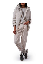 Brunello Cucinelli - Pearl English Ribbed Goose Down Hoodie