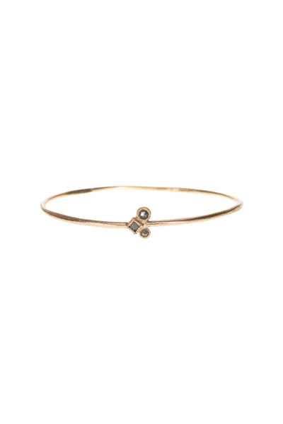 Todd Reed - Rose Gold Diamond Cube Bangle Bracelet