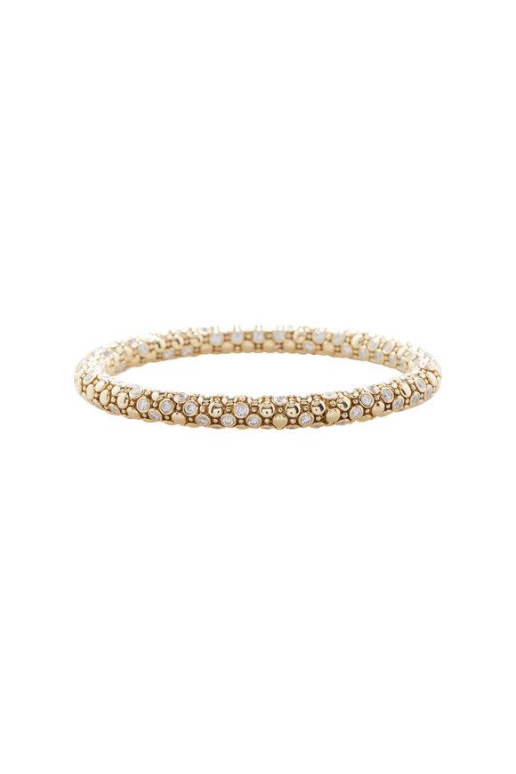 Sutra Yellow Gold Diamond Stretch Bracelet