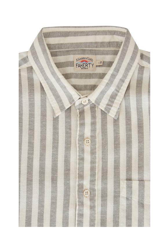 Faherty Brand Breeze Coastal Sage Short Sleeve Sport Shirt