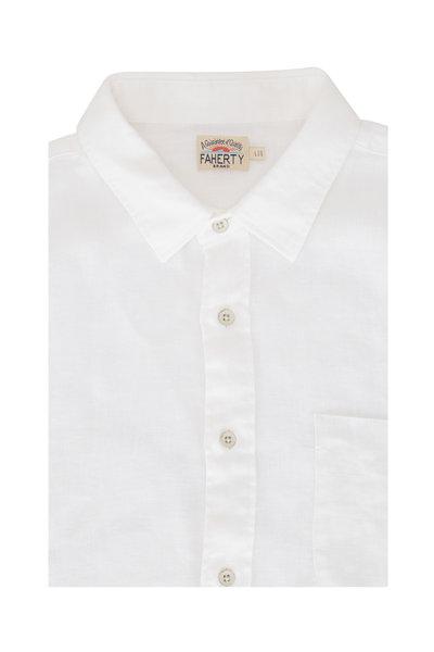 Faherty Brand - Laguna White Linen Sport Shirt