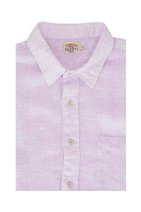 Faherty Brand Laguna Lavender Linen Sport Shirt