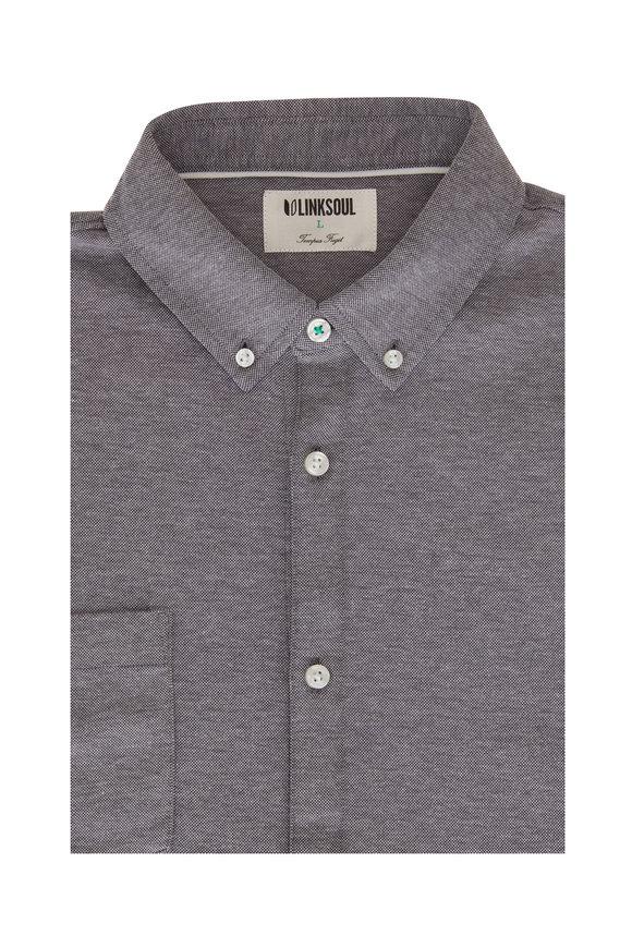 Linksoul Gray Short Sleeve Button Down