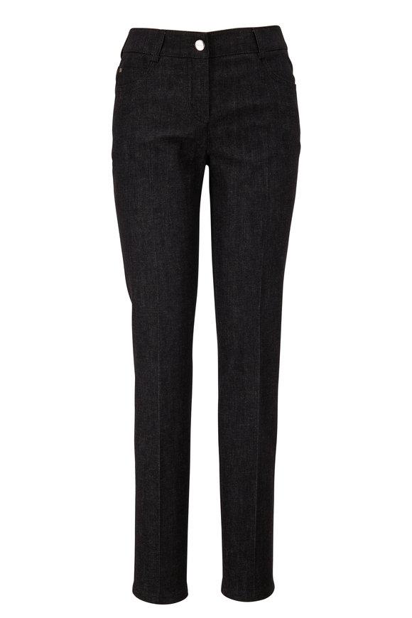 Akris Black Cotton Slim Leg Pant