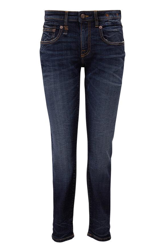 R13 Boy Howell Indigo Mid-Rise Skinny Jean