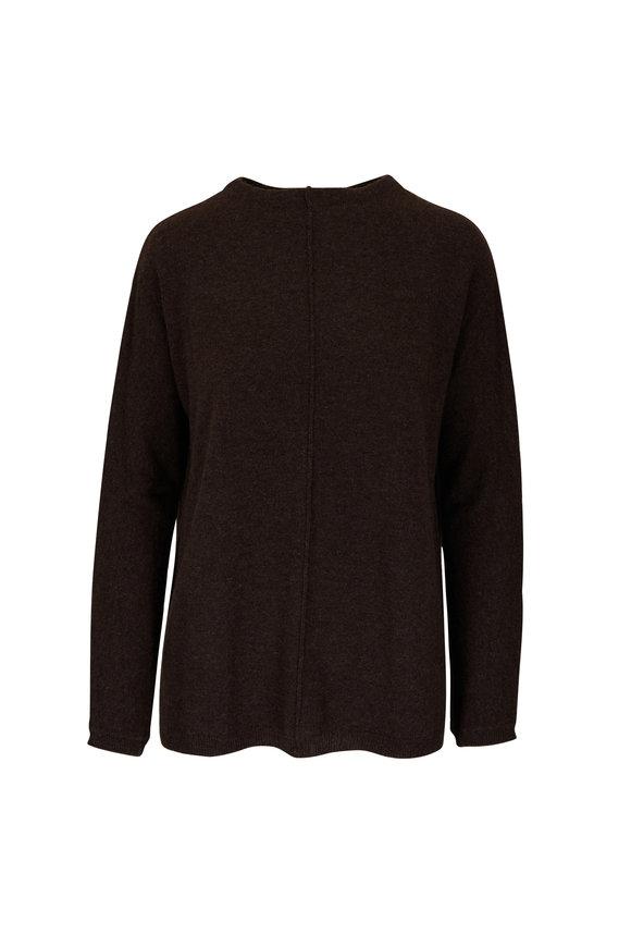 Kinross Café Cashmere Seamed Sweater