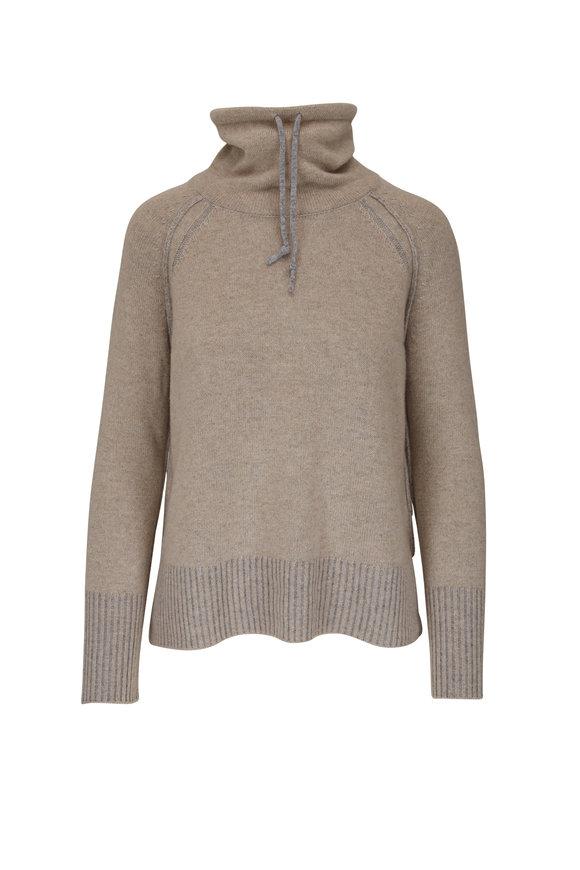 Kinross Acorn & Sterling Cashmere Plaited Sweater