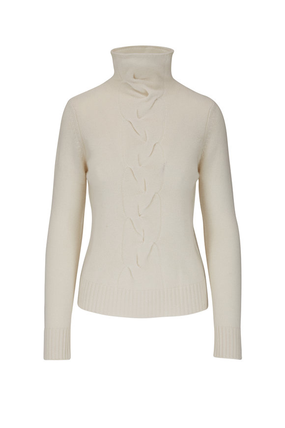 Kinross Pearl Cashmere Funnel Neck Sweater