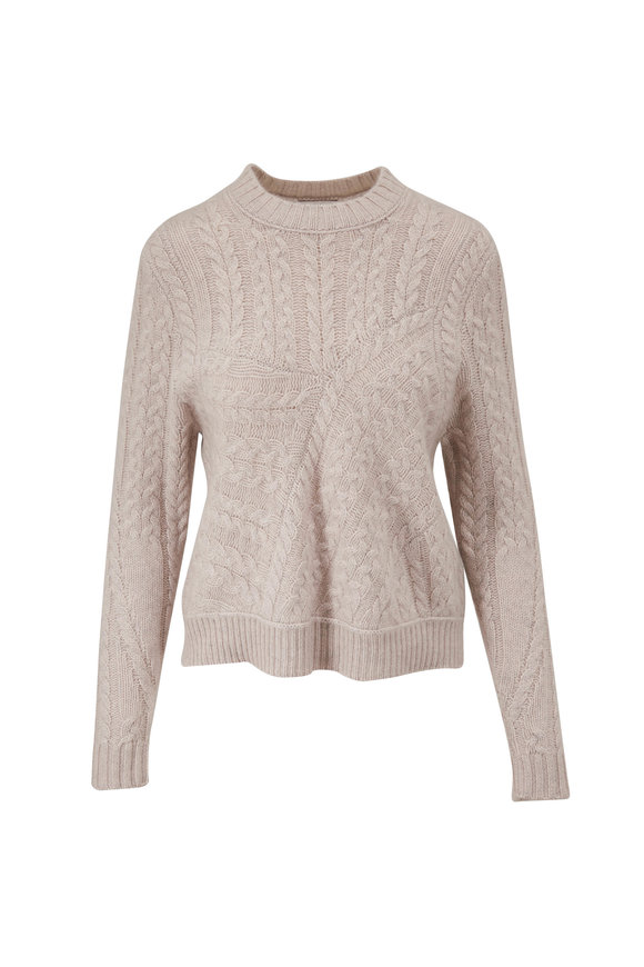 Kinross Agate Luxe Cashmere Cable Knit Sweater