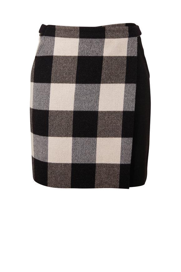 Akris Punto Black & White Check Mini Skirt