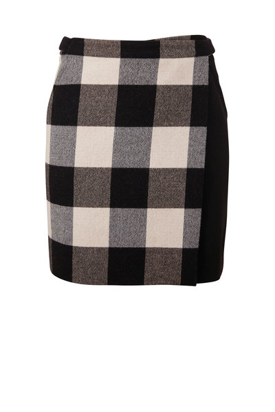 Akris Punto - Black & White Check Mini Skirt