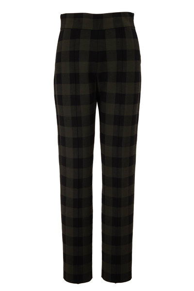 Akris Punto - Milano Black & Olive Check Pant