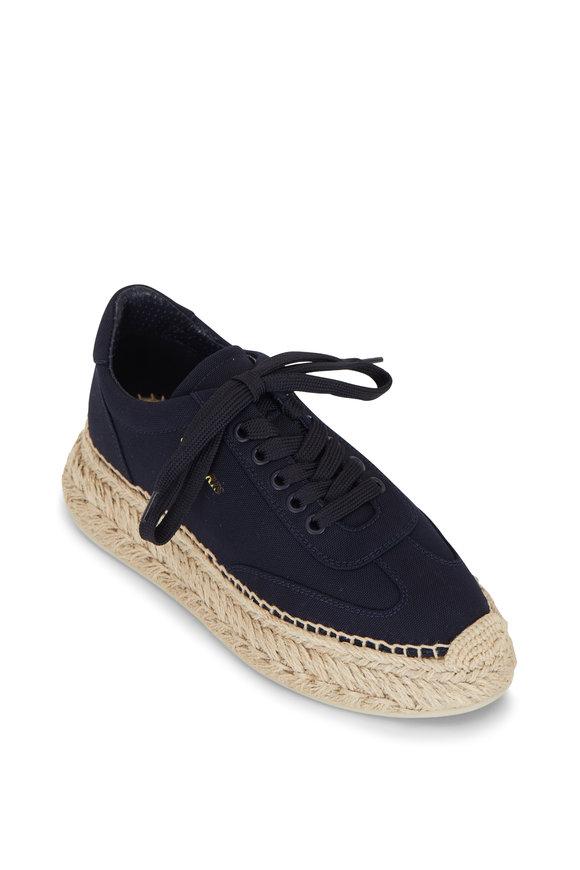 Christian Louboutin Espasneak Navy Blue Canvas Sneaker