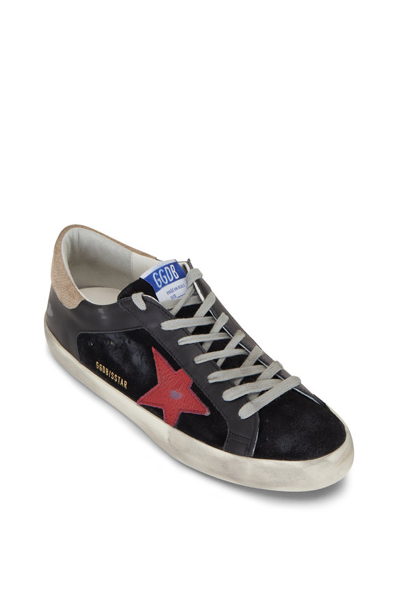 Golden Goose Superstar Black & Red Star Low Top Sneaker