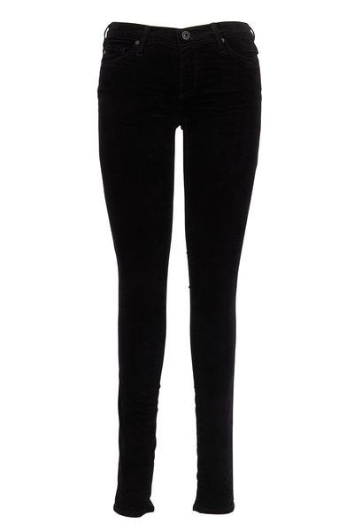 AG - The Legging Black Velvet Super Skinny Jeans