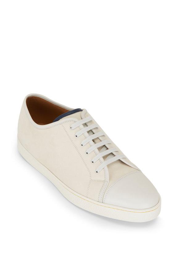 John Lobb Levah Chalk Brushed Leather Sneaker