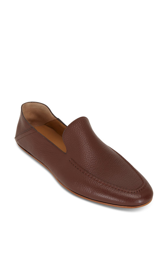 Magnanni Heston Cognac Grained Leather Loafer