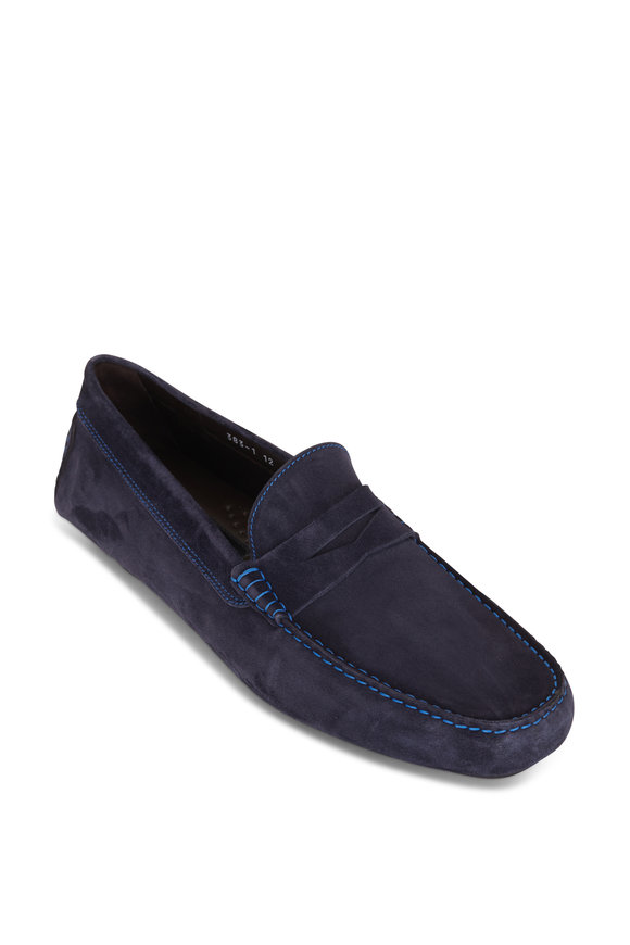 To Boot New York Driver Blue Suede Loafer