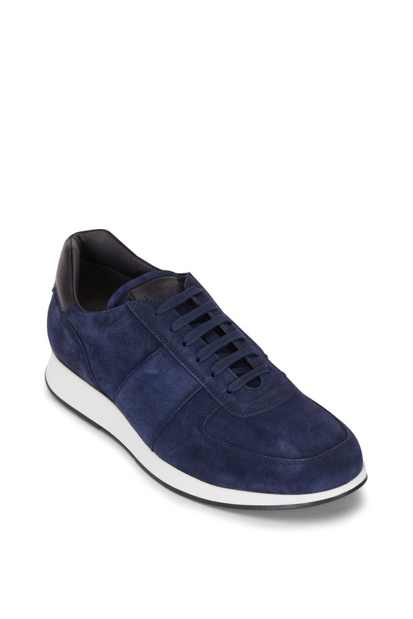 To Boot New York Jules Blue Suede Sneaker