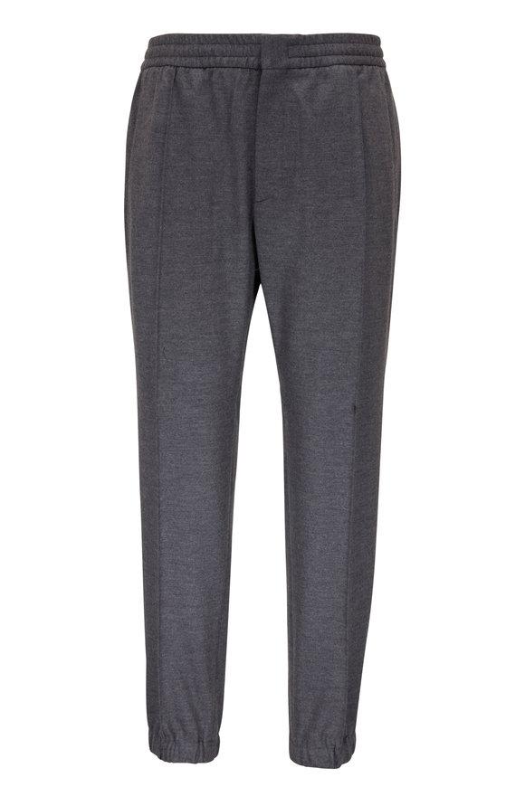 Ermenegildo Zegna Gray Wool Joggers