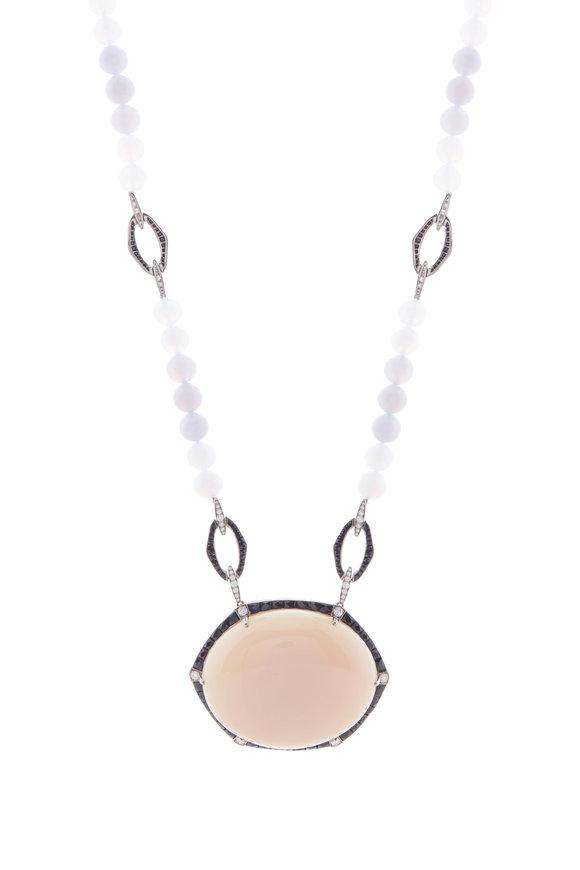 Fred Leighton Gray Chalcedony Bead Sautoir Necklace