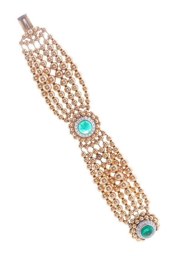 Fred Leighton Bulgari Emerald & Diamond Bracelet