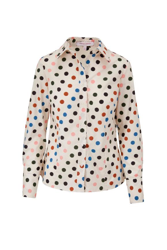 Carolina Herrera Multi-Color Polka Dot Button-Down Shirt