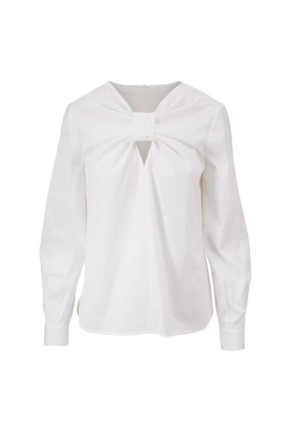 Carolina Herrera White Wide Sleeve Blouse