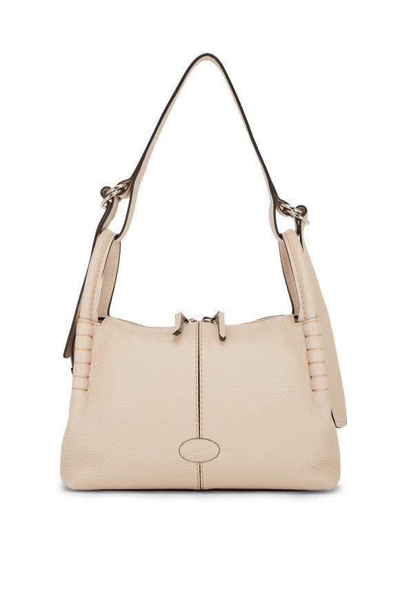 Tod's Beige Leather Small Shoulder Bag
