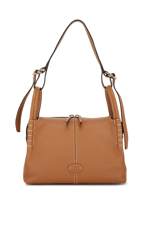 Tod's Kenia Brown Leather Small Shoulder Bag