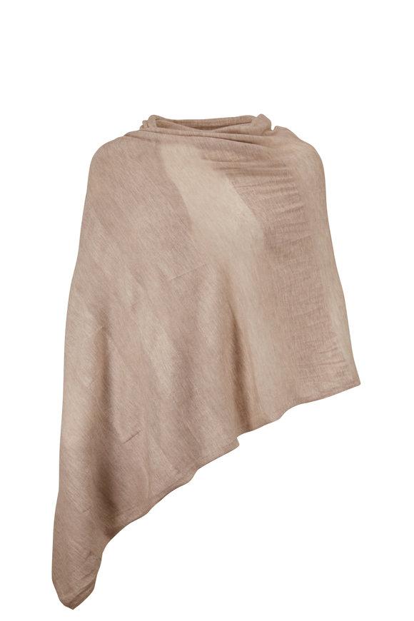 Kinross Agate Worsted Cashmere Shadow Stripe Wrap